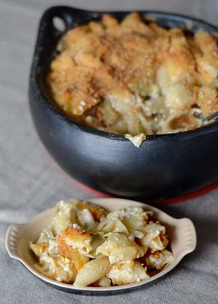So I was like... Mac & Cheese with Artichokes? Yum! Then I was like... this placed in a healthy casserole (blasphemy) competition?! MORE REASON TO MAKE!