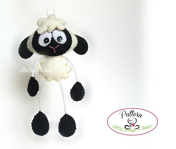 Skinny Sheep-PDF sewing pattern-Cute Sheep toy-DIY-Handmade plush-Toy pattern-Instant download-Photo Tutorial-Small present-Plushie