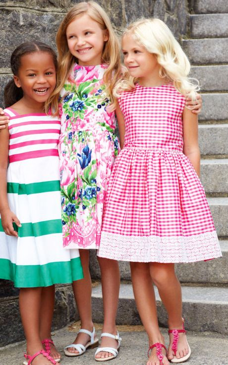Oscar de la Renta Childrenswear Spring/Summer 2014 Trunkshow Look 1 on Moda Operandi