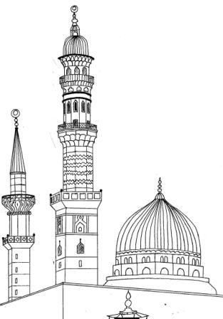 PROPHET DIED IN MADINA --COLOR IT