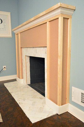 Best 20+ Building a mantle ideas on Pinterest | Brick fireplace ...