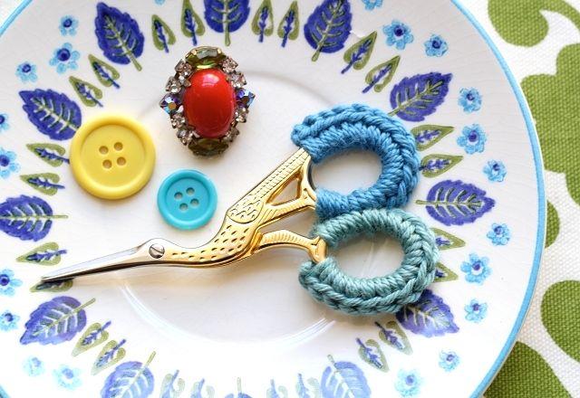 Crochet Scissor Grip Covers
