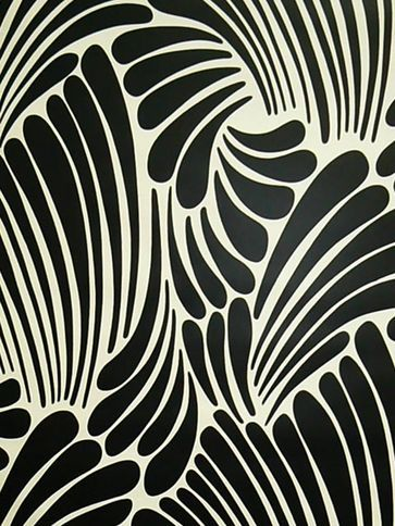 Florence Broadhurst - Fingers - vintage Silk Wallpaper