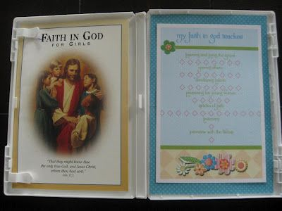So creative and useful. A DVD Case to hold a Faith In God booklet and a chart to track progress. This came from Jennifer Hawkins on Beehive Messages. She just changed her blog to a Facebook page, Beehive Messages, join her page for so many great ideas...especially Seminary Teaching ideas.