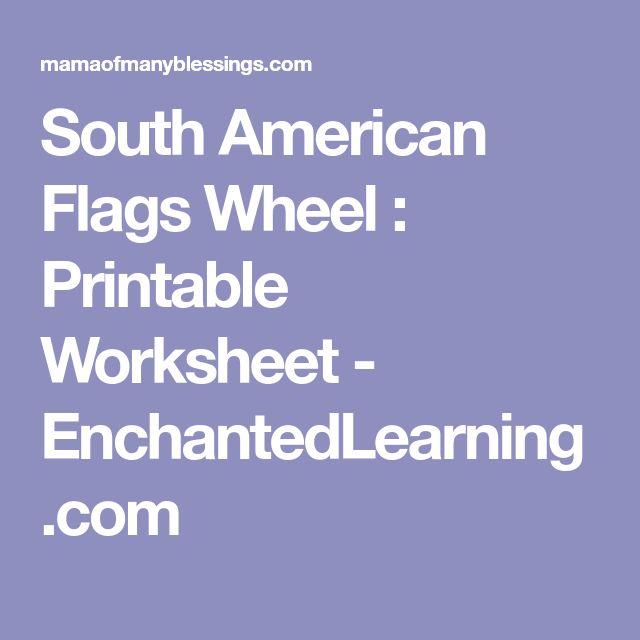 South American Flags Wheel : Printable Worksheet - EnchantedLearning.com