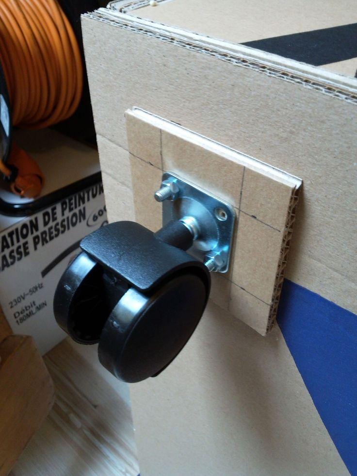 Blog de toutencarton : Toutencarton: lampes, cadres et meubles tout en carton!, Meuble sous pente sur roulettes