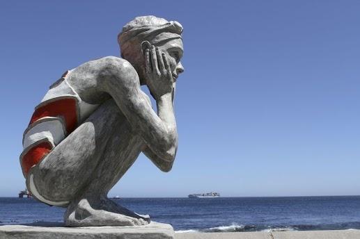 Girl Statue on Sea Point Promenade Cape Town Location.