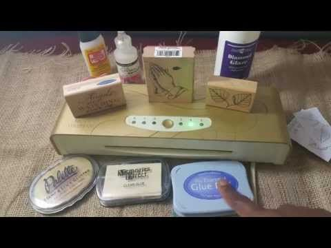 Anna Griffin Minc Machine: Rubber foil stamping with glues - YouTube