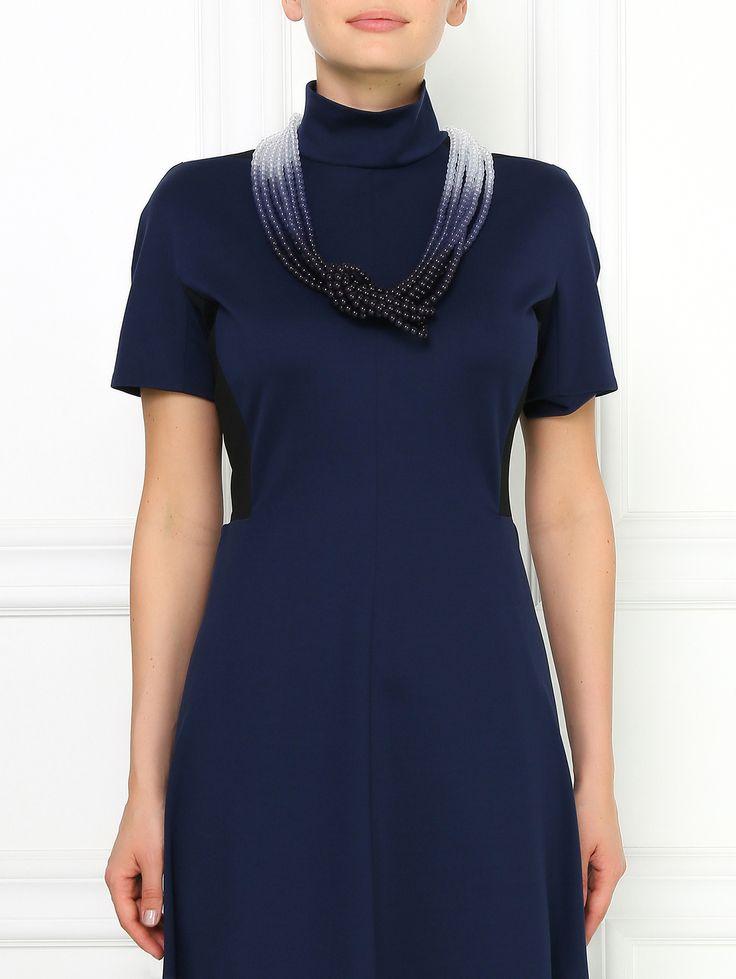 Купить Armani Collezioni синее ожерелье с эффектом 'деграде' (101507), цена на ожерелие в интернет-магазине Bosco.ru – 12 350 руб.