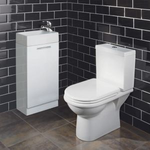 Keep toiletries hidden from view with the Milano Palma Cloakroom Suite