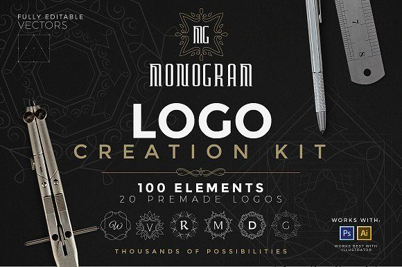Logo Creation Kit - Monogram Edition by Zeppelin Graphics on @creativemarket