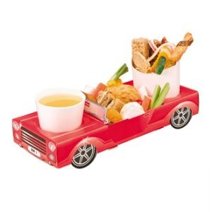 Red car themed kids party food box... cute.  Wonder if I could find them closer?