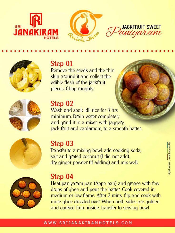 Jackfruit paniyaram - recipe