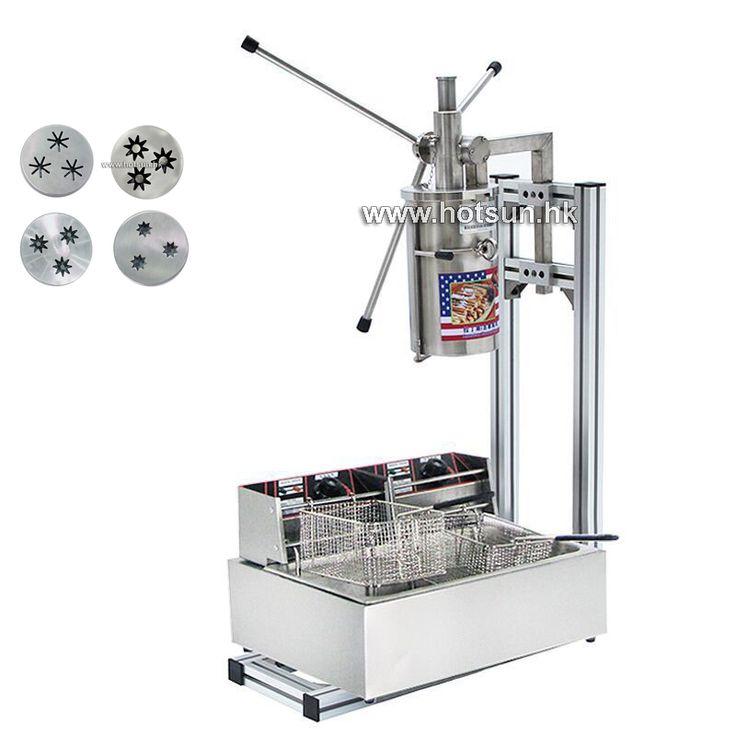 Commercial 5L Manual Spanish Donut Churrera Churro Filling Maker Machine with 12L 110v 220v Electric Deep Fryer  EUR 623.37  Meer informatie  http://ift.tt/2nyvSx9 #aliexpress