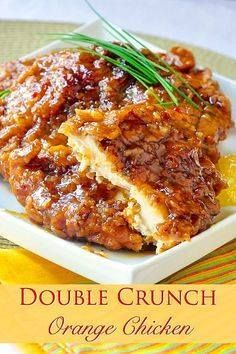 Double Crunch Orange Double Crunch Orange Chicken - super...  Double Crunch Orange Double Crunch Orange Chicken - super crunchy and flavourful with an orange sauce thats great with rice or Chinese noodles too. Recipe : http://ift.tt/1hGiZgA And @ItsNutella  http://ift.tt/2v8iUYW
