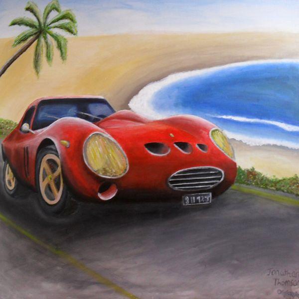 Acrylic On Canvas Car Scene Painting On Behance