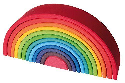 Grimm's Large 12-Piece Rainbow Stacker - Wooden Nesting P... https://smile.amazon.com/dp/B0089VP95S/ref=cm_sw_r_pi_dp_RD9Gxb3PV80WH