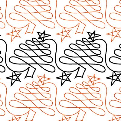 Continuous line christmas stencil