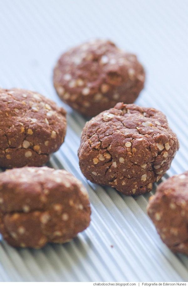 Quinoa cookies recipe (no gluten)   Receita: Biscoitos de quinoa e cacau (sem…