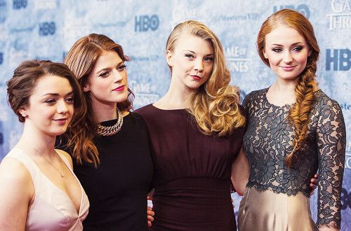 Maisie Williams, Rose Leslie, Natalie Dormer and Sophie Turner attend the Game of Thrones Season 3 Seattle Premiere (3.21.13)