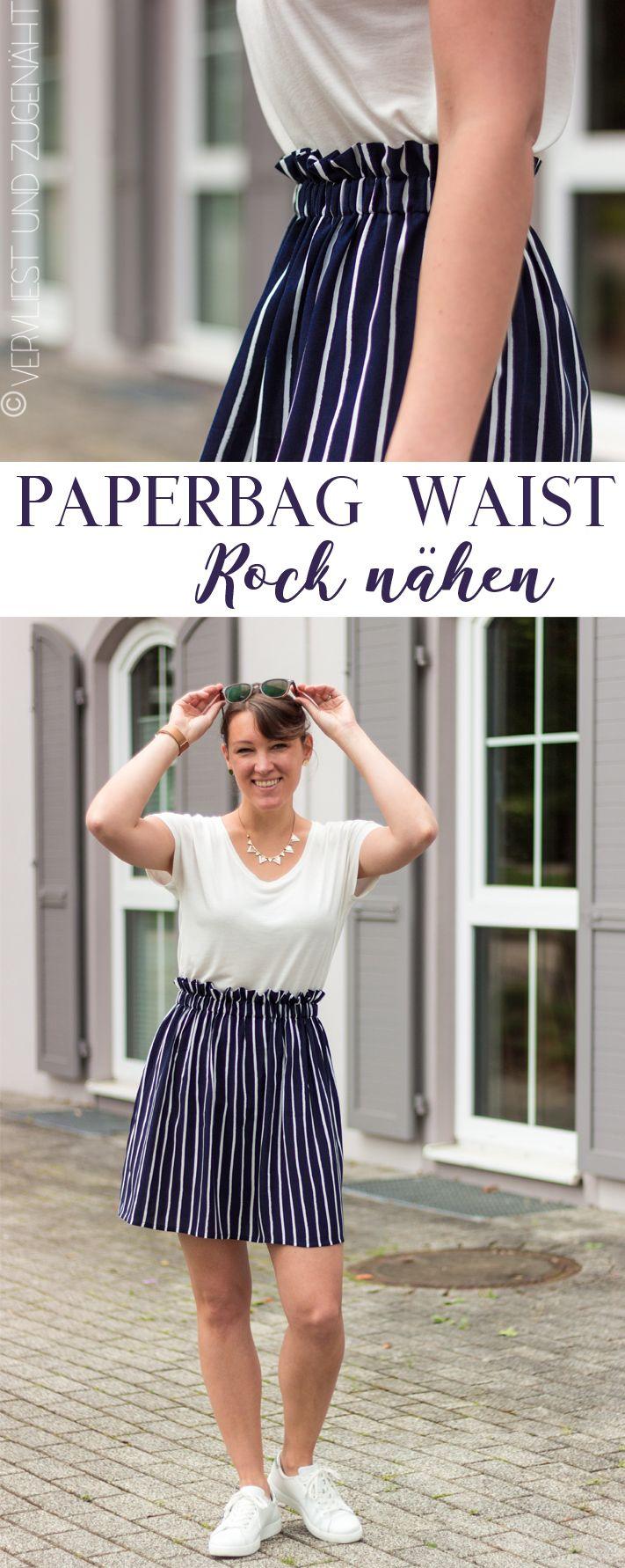 Paperbag Waist Rock nähen