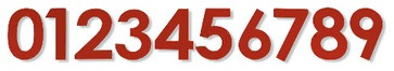 Domicile House Numbers, Red  $18.00  Score instant curb appeal with modern red house numbers. Hang them against white or gray for contrast.  by Dana Miller  Product Specifications:  Sold By:Chiasso Visit Store»  Category:House Numbers