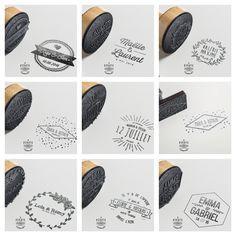 Collection de Tampons de #Mariage ! Pour personnaliser vos #faire-parts de Mariage. Un objet unique et original ! #CadeaudeMariage