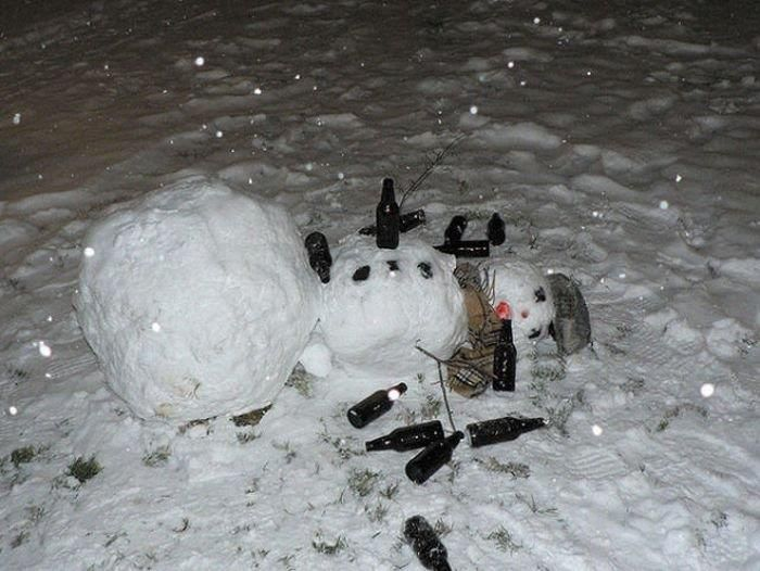 Пьяный снеговик костюм