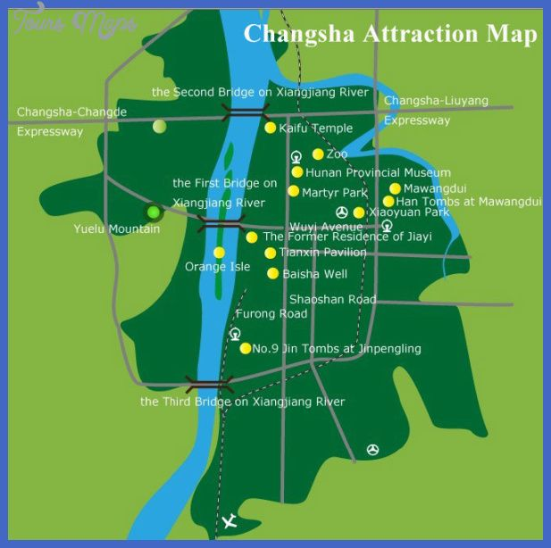 awesome Changsha Map Tourist Attractions
