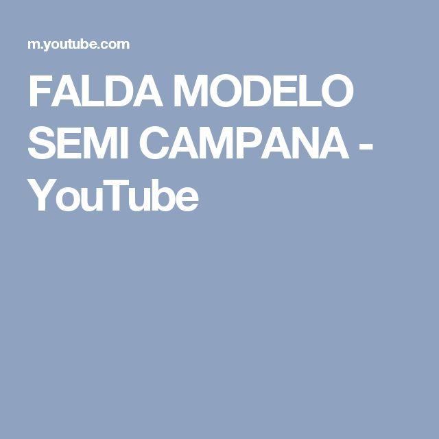 FALDA MODELO SEMI CAMPANA - YouTube