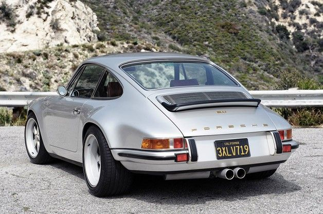 Porsche 911 Restored by Singer rear 3/4 view. so beautiful
