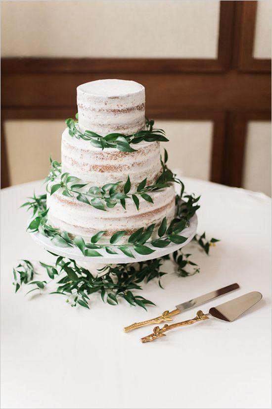 nearly naked wedding cake #weddingcake @weddingchicks