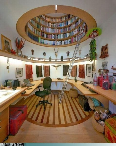 why not put your library overhead...in an oculus...sureMo'N Davis, Bookshelves, Ideas, Home Libraries, Dreams, Offices Spaces, National Geographic, Bookcas, Home Offices