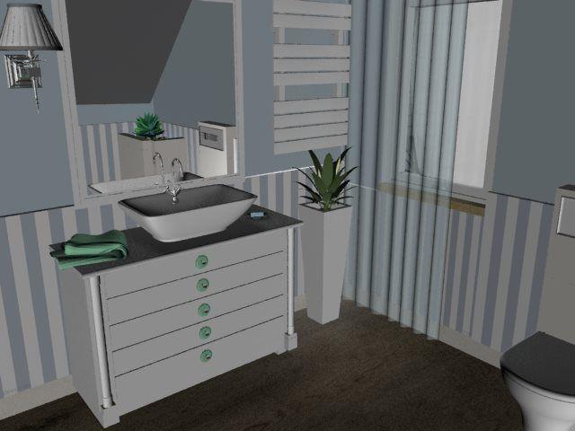bathroom with platform, freestanding bathtub, pebbles, no tiles