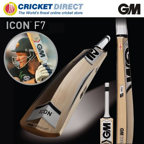 GM Icon F7 DXM Cricket Bat: Lightweight design and flowing powerful edges provide excellent power and precision.