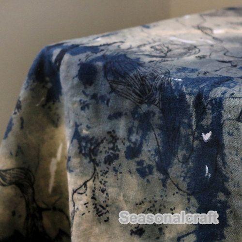 Retro katoenen linnen stof The Chinese stijl Blue Style stof