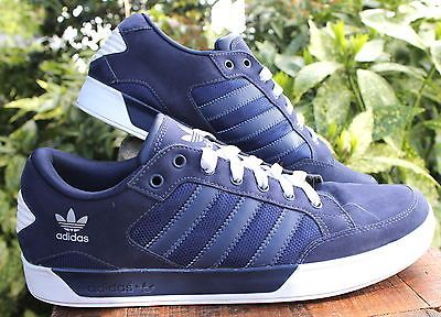 ADIDAS-Navy-Blue-Stripe-Tennis-Shoes-Mens-Athletic-