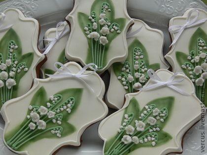 Пряники Ландыши - пряник,расписные пряники,рассадочные карточки,на свадьбу