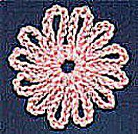Chain Stitch Flower Crocheted Pattern