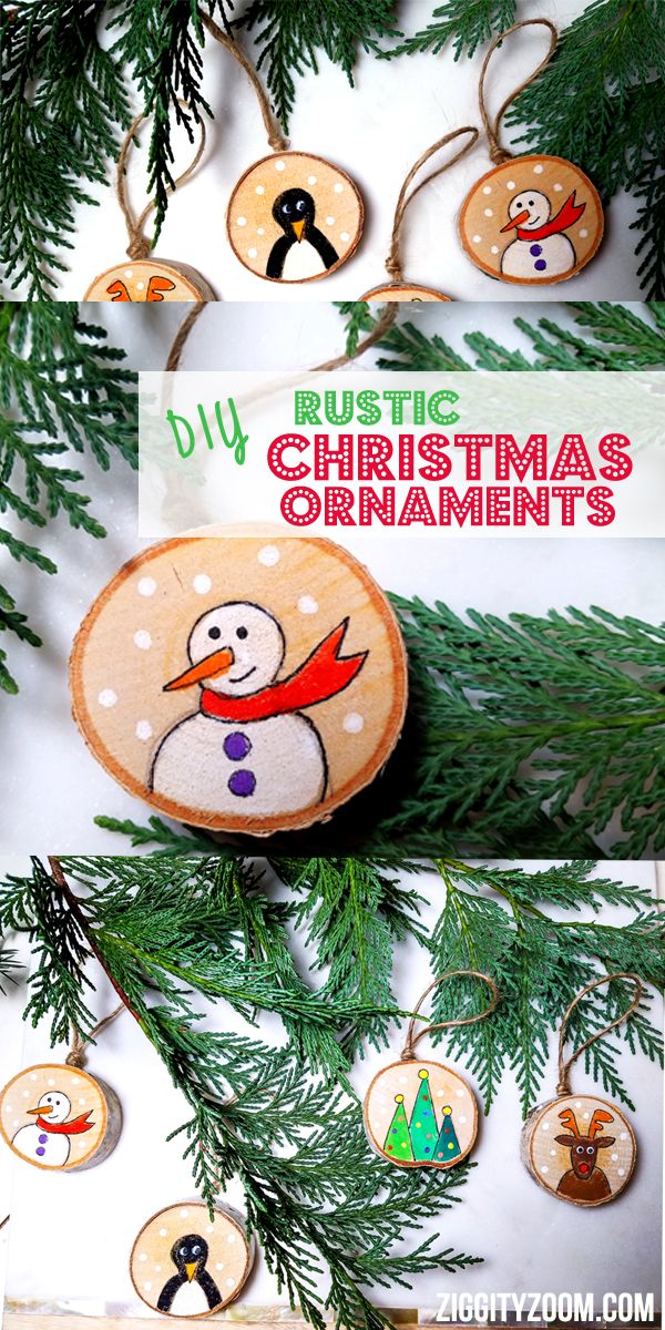 DIY Christmas Ornaments Imagine How Happy We Were To Find Little Rustic Wood Disks Create