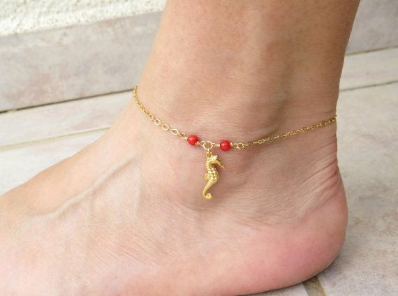 On sale Seahorse anklet Sea inspired jewelry by SarittDesigns