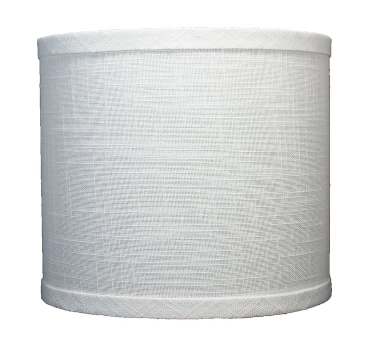 """Urbanest Linen Drum Lamp Shade, 8x8x7"""", Off White, Spider. Urbanest Classic Handmade Linen Drum Lamp Shades. Hardback Drum Style Lamp Shape; Spider fitter. Measurements: 8"""" across the top; 8"""" across the base; 7"""" height overall. Off white linen. Suggested maximum wattage for shade is 60 watts."""