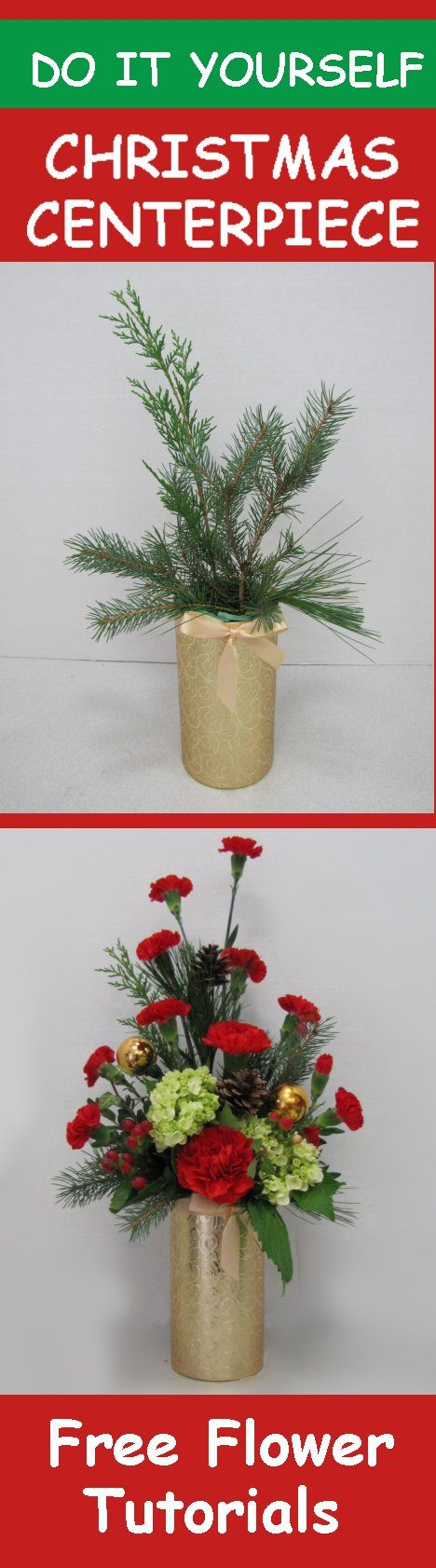 61 best fresh christmas wreaths greenery and table centerpieces christmas flower centerpieces easy diy step by step flower tutorials solutioingenieria Images