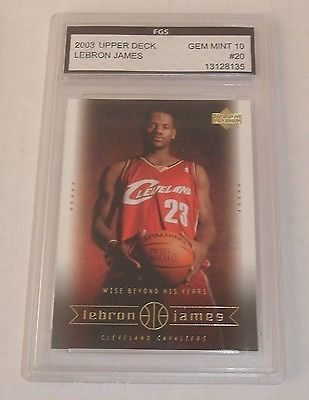 nice 2003 UD Lebron James Rookie Card Cavaliers RC FGS Graded Gem Mint 10 Heat - For Sale View more at http://shipperscentral.com/wp/product/2003-ud-lebron-james-rookie-card-cavaliers-rc-fgs-graded-gem-mint-10-heat-for-sale/