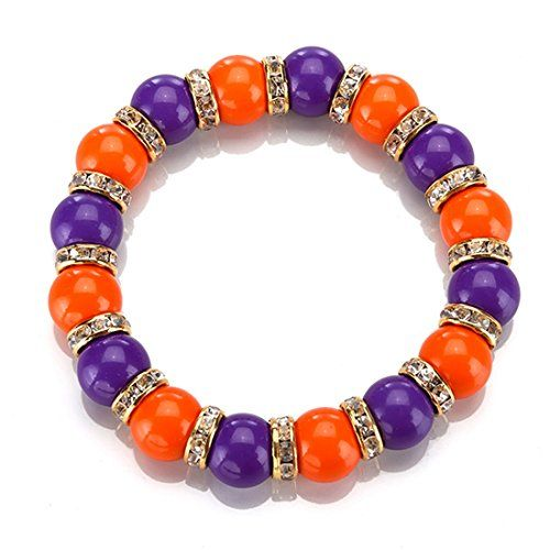 Undefeated NCAA Ranked Teams! Clemson Tigers Gold Tone Stretch Bracelet Featuring Clemson Colors and Clear Crystal Rhinestones J and D Jewelry and More http://www.amazon.com/dp/B00MLCETKW/ref=cm_sw_r_pi_dp_cXOowb1SAYXAG