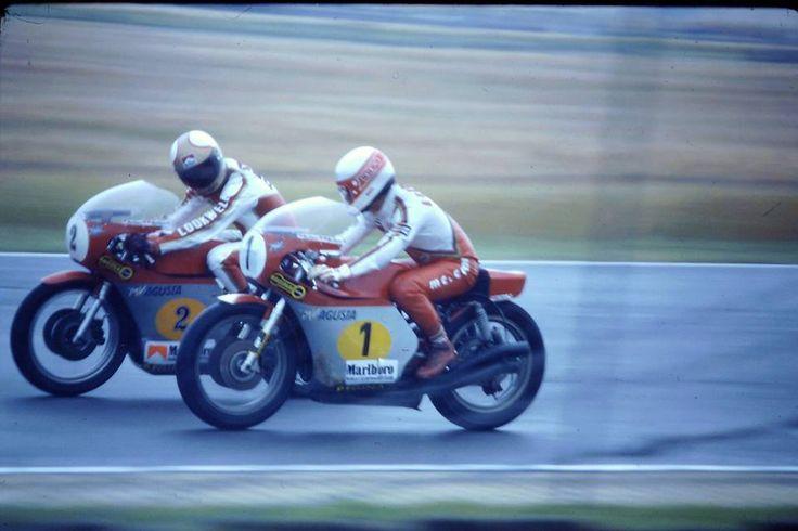 Mike HAILWOOD & Giacomo AGOSTINI MV 500. about 1979.