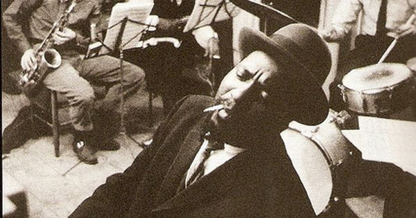 Thelonious Monk (1959)  Rehearsing in a New York loft with saxophonists Phil Woods and Charlie Rouse.  Jazz: A History of America's Music; by Geoffrey C Ward and Ken Burns #music
