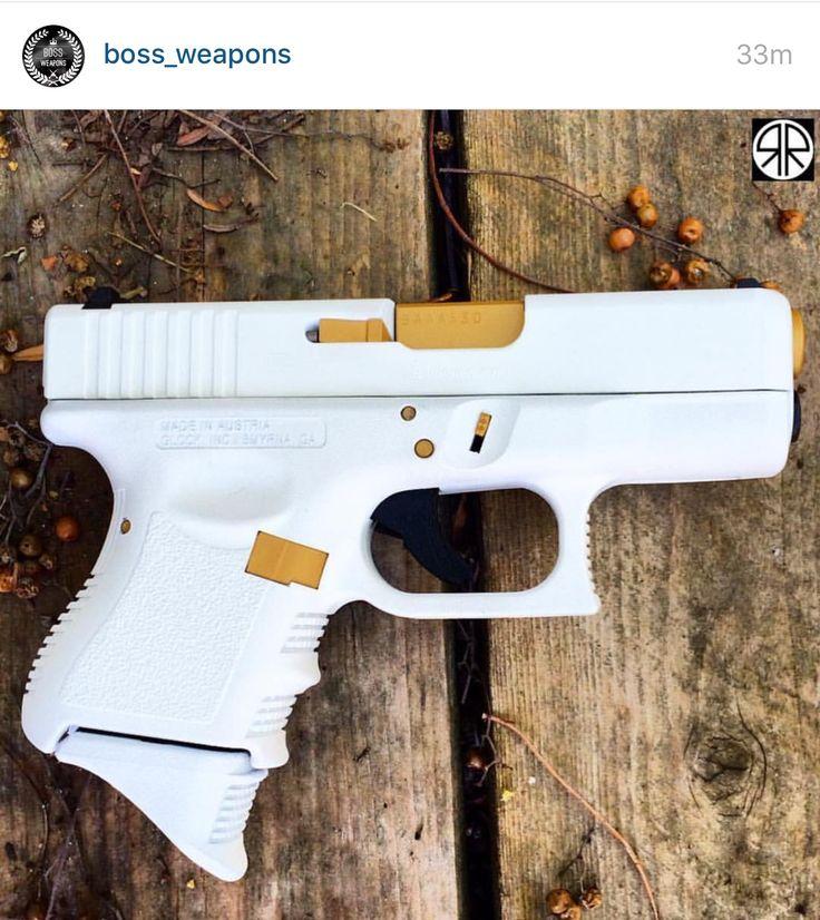 White & Gold Glock