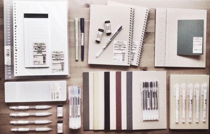 [6.14.15 // 3:47 pm] The product of my sf trip for bom + muji. Gotta uphold that studyblr aesthetic. - by sonicalm