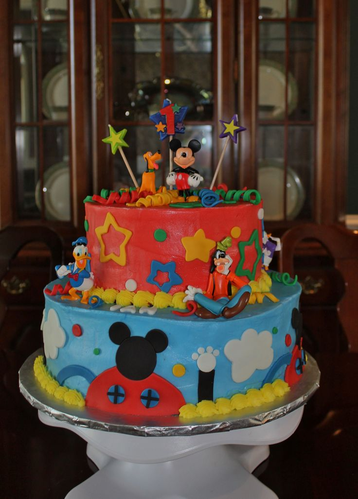 "2011 Mattel Disney 2.75"" Mickey Mouse Farmer Toy Figure ...  |Mickey Mouse Birthday Figurines"